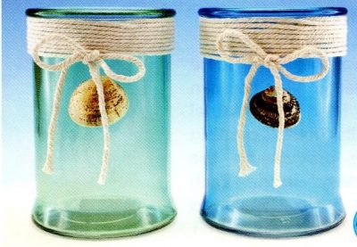 Medium Candle Holder with Rope and Shell